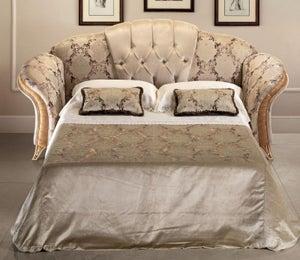 Arredoclassic Melodia Golden Italian Fabric 3 Seater Sofa Bed