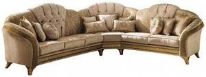 Arredoclassic Melodia Italian Fabric Corner Sofa with Cushion
