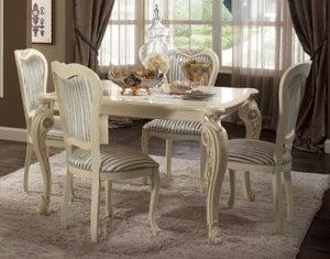 Arredoclassic Tiziano Silver Italian 118cm-158cm Square Extending Dining Table