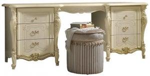 Arredoclassic Tiziano Silver Italian 6 Drawer Dressing Table