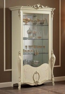 Arredoclassic Tiziano Silver Italian 2 Glass Door Display Cabinet