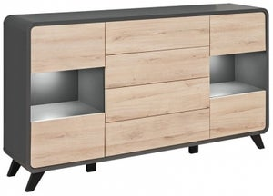 Belmont Oak and Anthracite Sideboard