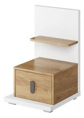 Emily Natural and White Bedside Table