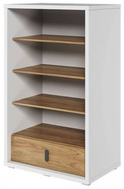 Emily Natural and White Bookcase