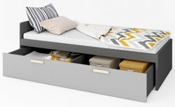 Florence Graphite Bed with Drawer