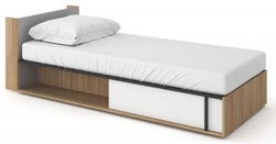 Grace White Bed with Mattress