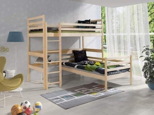 Tulare Pine Double Bunk Bed