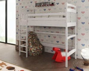 Tulare White Wooden Bunk Bed