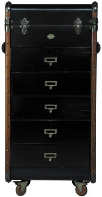 Authentic Models Stateroom Black 5 Drawers Chest