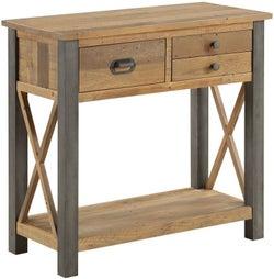 Baumhaus Urban Elegance Reclaimed Wood 3 Drawer Console Table