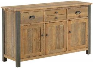 Baumhaus Urban Elegance Reclaimed Wood 3 Drawer Sideboard