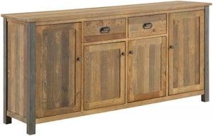 Baumhaus Urban Elegance Reclaimed Wood 4 Drawer Large Sideboard