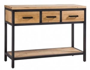 Forge Industrial 3 Drawer Hall Table