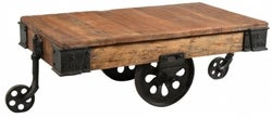 Handicrafts Industrial Trolley Coffee Table - Iron and Wood
