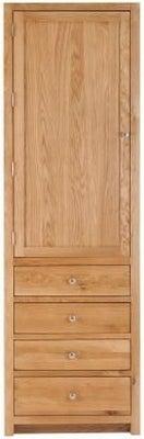 Handmade Oak 1 Left Door 4 Drawer Tall Larder Cabinet