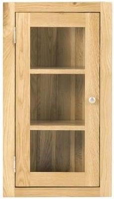 Handmade Oak 1 Left Door Glazed Wall Cabinet
