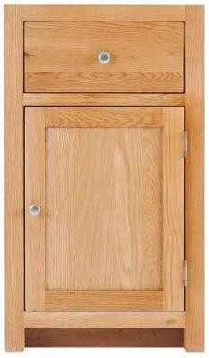 Handmade Oak 1 Right Door 1 Drawer Cabinet