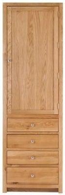 Handmade Oak 1 Right Door 4 Drawer Tall Larder Cabinet