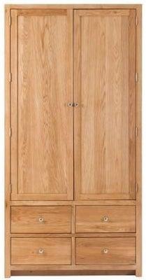 Handmade Oak 2 Door 8 Drawer Tall Larder Cabinet