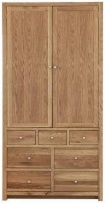Handmade Oak 2 Door 7 Drawer Tall Larder Cabinet