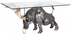 Wrought Iron Fighting Bull Dining Table