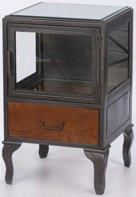 Vintage Style Glass Bedside Cabinet