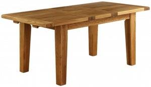 Vancouver Petite Oak Rectangular Extending Dining Table - 180cm-230cm