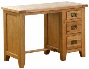 Vancouver Petite Oak 3 Drawer Dressing Table