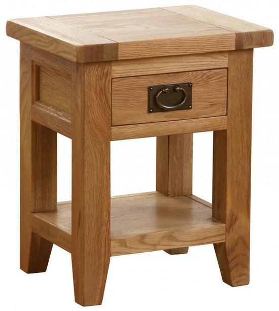 Vancouver Petite Oak 1 Drawer Bedside Table