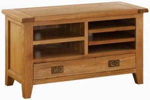 Vancouver Premium Solid Oak 1 Drawer TV Video Unit