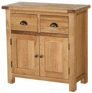 Vancouver Select Oak 2 Door 2 Drawer Narrow Sideboard