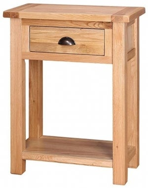 Vancouver Select Oak 1 Drawer Console Table