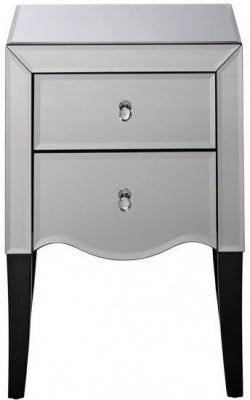 Clearance - Birlea Palermo Mirrored Bedside Cabinet- New - E-455