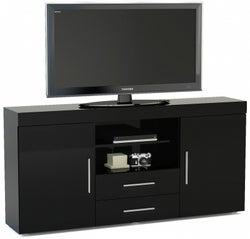 Birlea Edgeware Black Large TV Unit