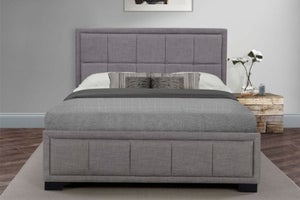 Birlea Hannover Grey Fabric Bed