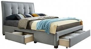 Birlea Shelby Grey Fabric Bed