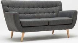 Birlea Loft Grey 3 Seater Fabric Sofa