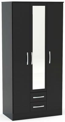 Birlea Lynx Black 3 Door Combi Wardrobe