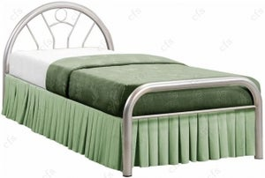 Birlea Solo 3ft Silver Metal Bed
