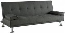 Birlea Logan Grey Fabric 3 Seater Sofa Bed