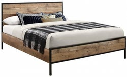 Birlea Urban Rustic Bed with Metal Frame