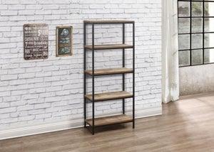 Birlea Urban Rustic Tall Bookcase with Metal Frame