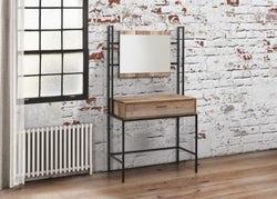 Birlea Urban Rustic Dressing Table and Mirror with Metal Frame