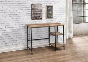 Birlea Urban Rustic Study Desk with Metal Frame