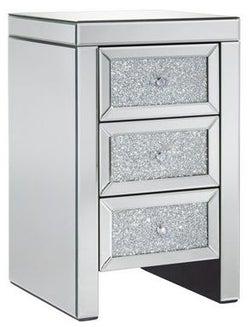 Birlea Vienna Mirrored Large Bedside Cabinet