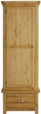 Birlea Woburn Oak 1 Door 1 Drawer Wardrobe