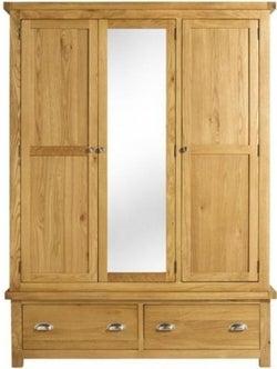 Birlea Woburn Oak 3 Door 2 Drawer Wardrobe