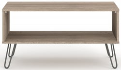 Augusta Driftwood Open Coffee Table with Hairpin Legs