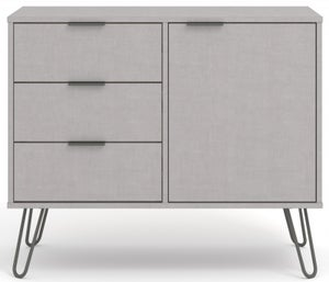 Augusta Grey Small Sideboard with Hairpin Legs