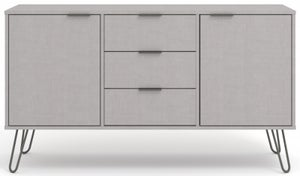 Augusta Grey Wide Sideboard with Hairpin Legs